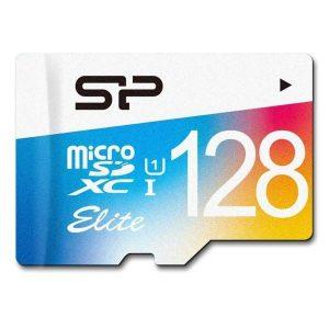 کارت حافظه microSDXC سیلیکون پاور مدل Color Elite  ظرفیت 128 گیگابایت