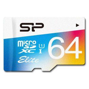 کارت حافظه microSDXC سیلیکون پاور مدل Color Elite ظرفیت 64 گیگابایت